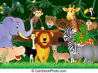 Vector illustration of cute animal cartoon