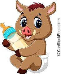 baby Wild boar cartoon