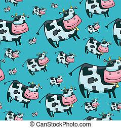 Cute friendly cow pattern.