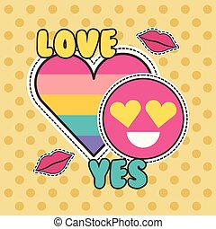cute patches badge love yes heart smile fashion
