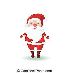 Cute Santa Claus in flat style.