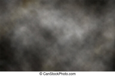 Editable vector illustration of thick billowing gray smoke made using a gradient mesh