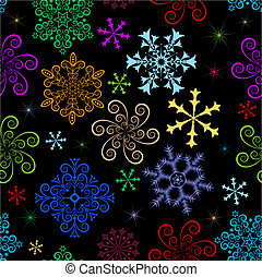 Dark winter seamless pattern