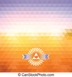 abstract bright background of triangles The illusion of dawn Geometric shapes Place text on top