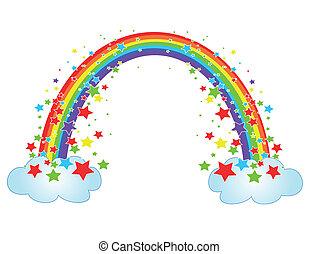 Decor with rainbow