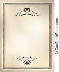 Decorative design background using sepia styled tones