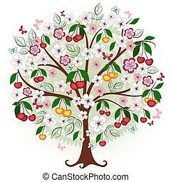 Decorative cherry tree
