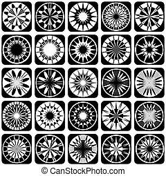 Decorative design elements. Pattern
