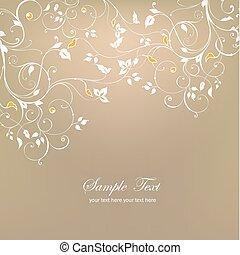 Decorative floral background. Vector