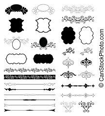 Decorative Floral Design Elements. Vector set