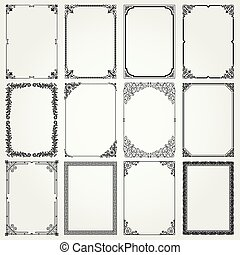 Decorative frames and borders