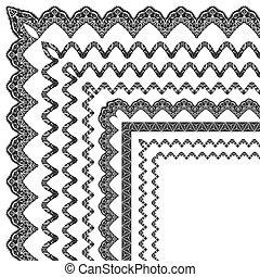 ornamental border with corner