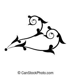 Decorative swirl border ornament - Vector