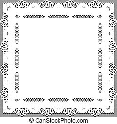 Delicate lace doily on a gray background.