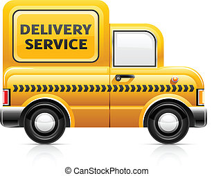 delivery service car