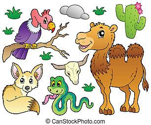 Desert animals collection 1 - vector illustration.