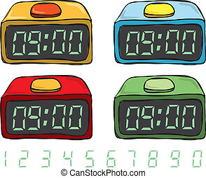 Digital clock doodle