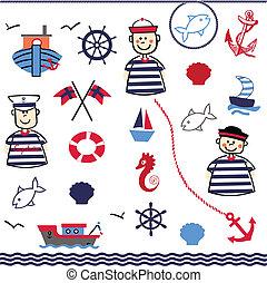 Digital Collage of Nautical