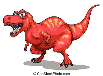 Dinosaur with sharp teeth illustration