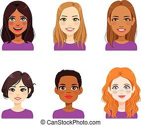 Diverse Woman Face Avatar