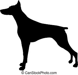 Abstract vector illustration of dog silhouette