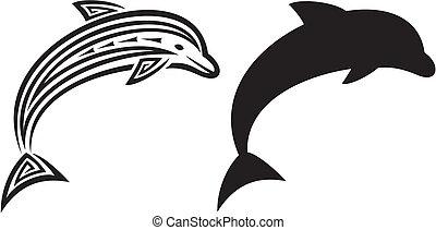 dolphin tribal tattoo design