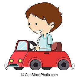 Doodle boy drive toy car