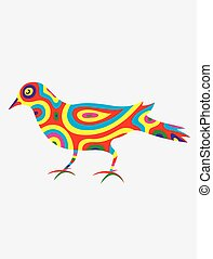 Dove bird abstract colorfully