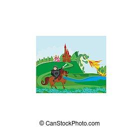 dragon attacks the kingdom