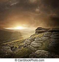 Dramatic Wild Landscape, Dartmoor, UK.