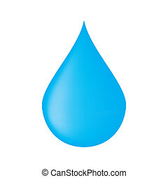 drop of water on a white background