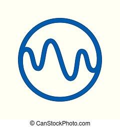Dynamic Curl Wave Circle Symbol