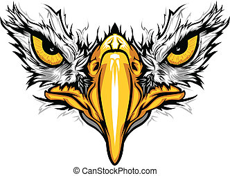 Graphic Vector Mascot Image of an Eagle Eyes and Beak