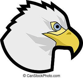 Creative design of eagle head