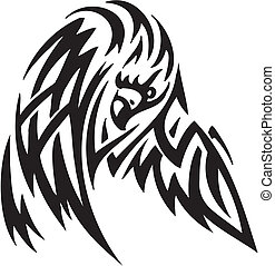 Eagle in tribal style - vector illustration