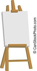 Easel, illustration, vector on white background.