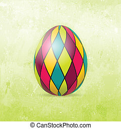 Easter Card with colorful Easter egg