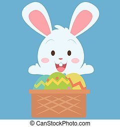 Easter theme with bunny and egg