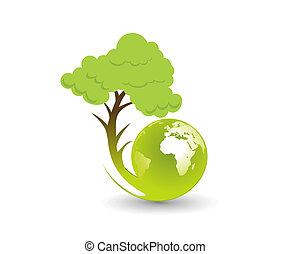 eco globe illustration