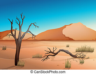 Illustration of a desert