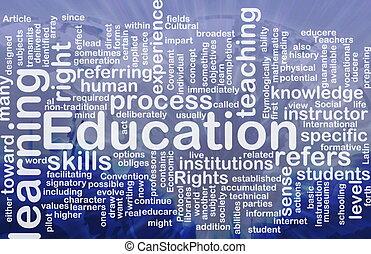 Background concept wordcloud illustration of education international