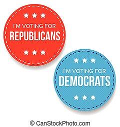 Election badge set