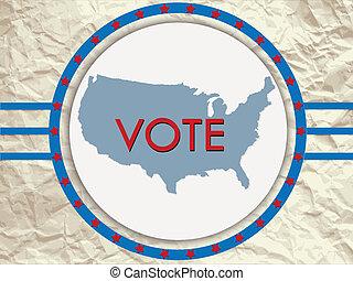 election label.