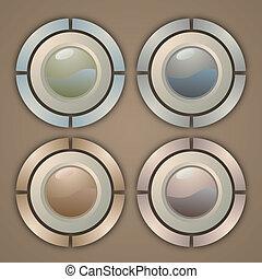 Creative design of elegance buttons
