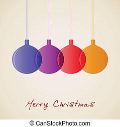 Elegant Christmas decoration background