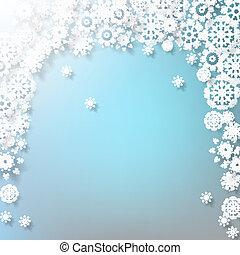 Elegant Christmas with snowflakes. EPS 10