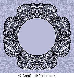 Elegant doily on lace gentle background