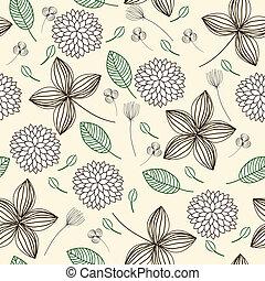 Elegant floral seamless background