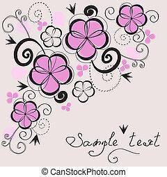 Elegant floral vintage background