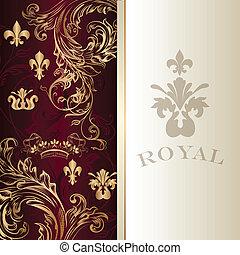 Elegant invitation card in royal